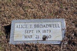 Alice <i>T</i> Broadwell