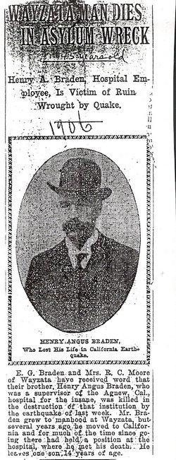 Henry Angus Gus Braden