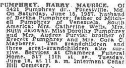 Harry Maurice Pumphrey