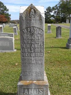 Mary B. <i>Wright</i> Amos