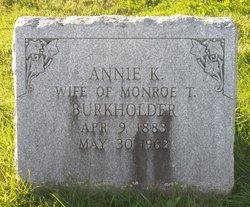 Annie King <i>Zook</i> Burkholder