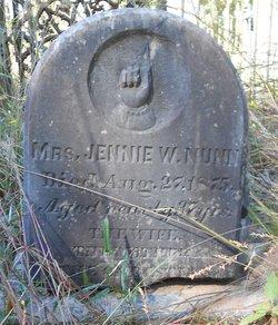 Jennie W. <i>Jones</i> Nunn