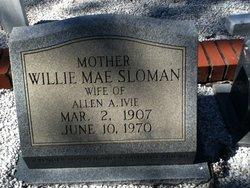 Willia Mae <i>Sloman</i> Ivie