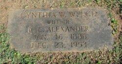 Cynthia Wilson <i>Welch</i> Alexander
