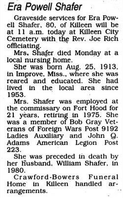 Era <i>Powell</i> Shafer