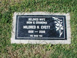 Mildred <i>Norvell</i> Evett