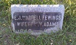 Elizabeth Jane Jenny <i>Wardell</i> Adams