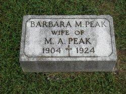 Barbara M <i>Merkel</i> Peak