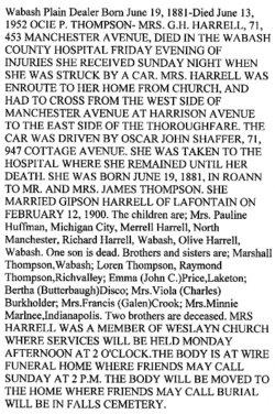 Ocie Pearl <i>Thompson</i> Harrell
