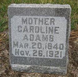 Wilhelmina Karolina Caroline <i>Scherf</i> Adams
