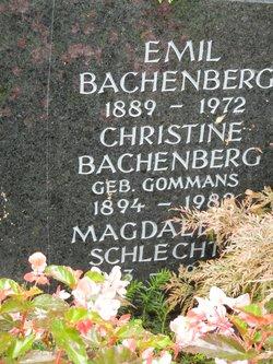 Christine <i>Gommans</i> Bachenberg