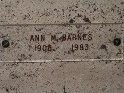 Annabelle Matilda Ann <i>Lawrence</i> Barnes
