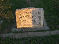Mattie Pearl <i>Davis</i> Cudd