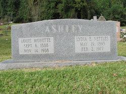 Lydia E. <i>Nettles</i> Ashley