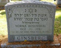 Norma <i>Rosenthal</i> Ginsberg