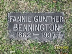 Fannie <i>Gunther</i> Bennington