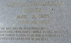 Aretta Ann <i>Bagley</i> Burke