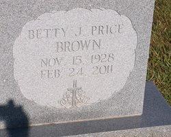 Betty J <i>Price</i> Brown