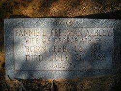 Fannie L. <i>Freeman</i> Ashley