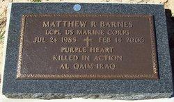 LCpl Matthew Ryan Barnes