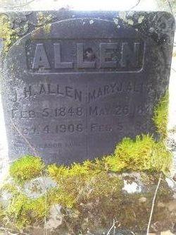 Mary Jane <i>Dunlap</i> Allen
