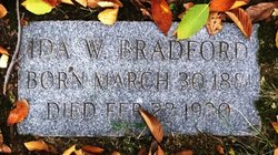 Ida Florence <i>Warner</i> Bradford