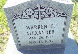 Warren G Alexander
