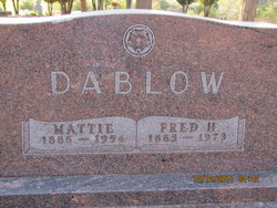 Fred H Dablow