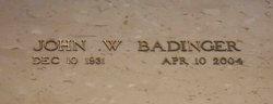 John W Badinger, Jr.