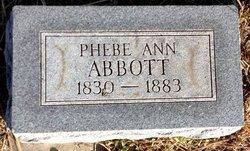 Phebe Josephine Ann <i>Taylor</i> Abbott
