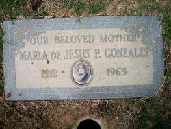 Maria P <i>De Jesus</i> Gonzales