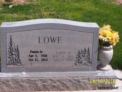 Fannie Jo <i>Warmack</i> Lowe