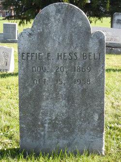 Effie Elizabeth <i>Hess</i> Belt