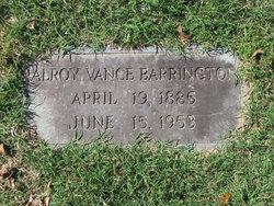 Alroy Vance Barrington