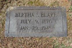 Bertha O. <i>Stinnett</i> Blake