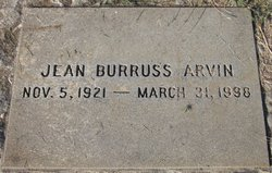 Jean Burruss Arvin