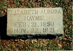 Rebecca Elizabeth Aldora <i>Peavy</i> Haynie
