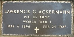 PFC Lawrence George Ackermann