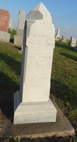 Mary <i>Matthews</i> Leslie