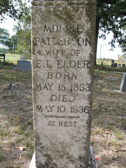 Mary Tennessee Mollie <i>Patterson</i> Elder