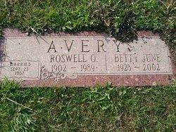 Betty June <i>Ellsworth</i> Avery