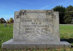 Primmie R. <i>Tillotson</i> Carroll