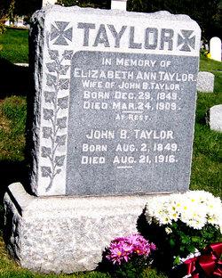 Elizabeth Ann <i>Schofield</i> Taylor