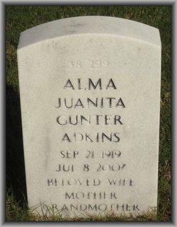Alma Juanita <i>Gunter</i> Adkins