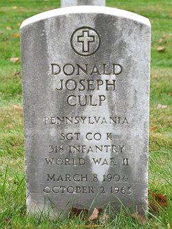Sgt Donald Joseph Pete Culp