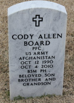 PFC Cody A. Board
