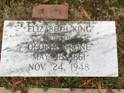 Sarah Elizabeth Lizzie <i>King</i> Crone