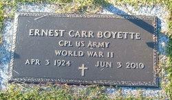 Ernest Carr Ernie Boyette, Sr