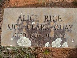 Alice <i>Rice</i> Quay