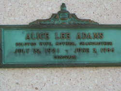 Alice Lee <i>Moore</i> Adams
